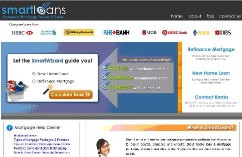 SmartLoans.sg - A new and easy way for finding and comparing home mortgage loan packages.