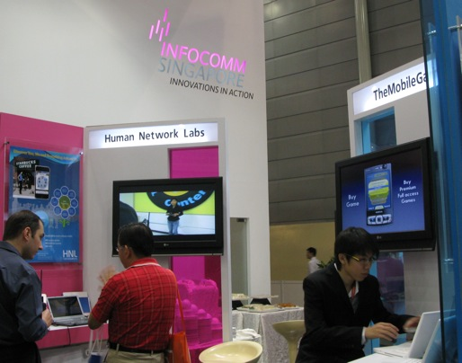The Infocomm Singapore booth at CommunicAsia 2009.