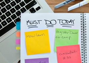 postit sticky note organize