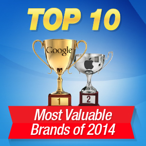 top 10 most valuable brands 2014