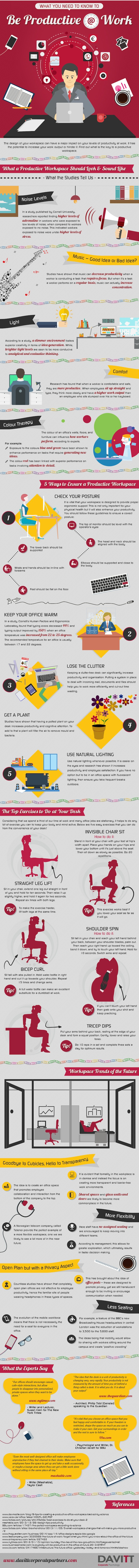 how-to-be-productive-at-work-infographic