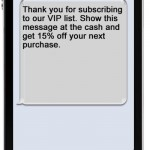 mobile text message