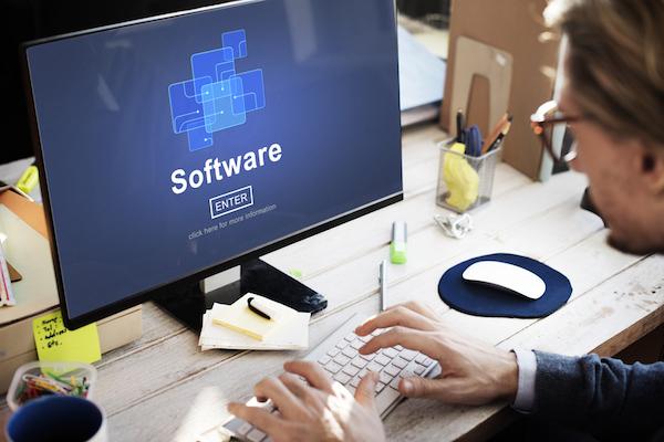 software computer screen