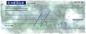 money cheque