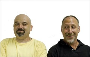 crowdSPRING co-founders Ross Kimbarovsky and Mike Samson