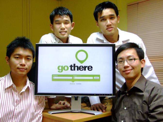 The Gothere.sg team: (Left to right) Dominic Ee, Toh Kian Khai, Kuan Chih Yuan, and Ang Jun Han.