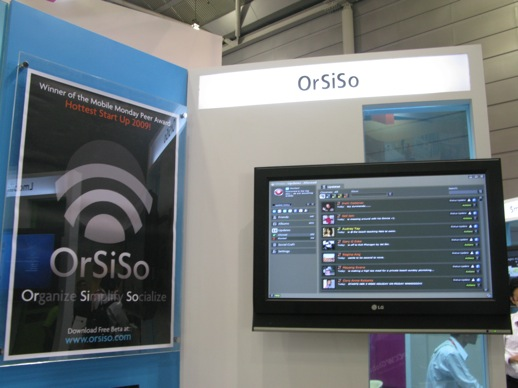 OrSiSo booth at CommunicAsia 2009.