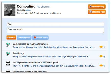 """Shoutreel lets users manage conversations in different """"reels"""" using one single location."""