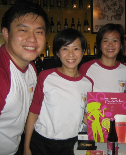 Lincoln Goh (left) with two other members of The Drinking Partners team.