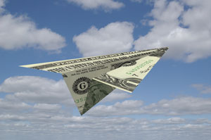 flying money