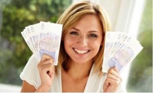 woman money