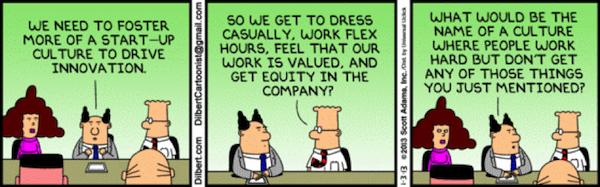 dilbert startup culture
