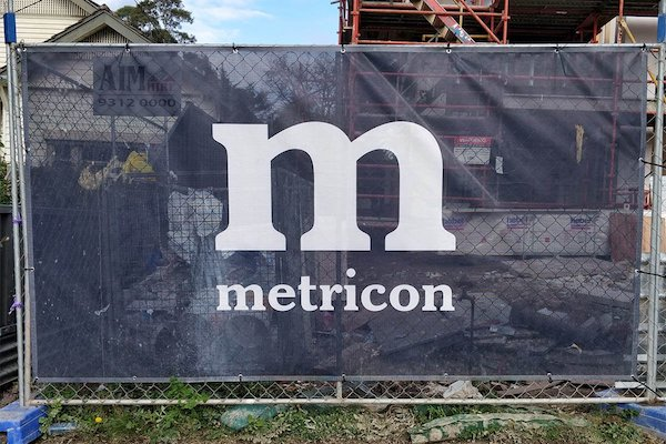 building site banner